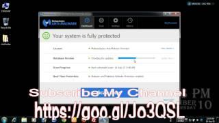 How to update database version of Malwarebytes Anti Malware v2.1.8.1057