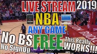 WATCH NBA FREE All Live GAMES View Live Stream For Free How To On iPhone Watch NBA Game Online 2018