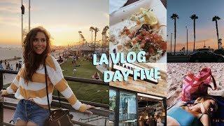 LA VLOG DAY FIVE | HUNTINGTON BEACH DAY, FISH TACOS, SHOPPING & MORE!