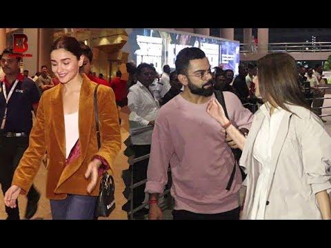 Xxx Mp4 Alia Bhatt Anushka Sharma With Husband Virat Kohli Arrives At Mumbai Airport 2018 3gp Sex