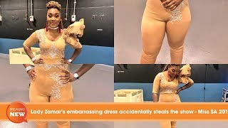 Lady Zamar's embarrassing dress accidentally steals the show - Miss SA 2018
