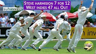WEST INDIES CRUCIFIED - 47 ALL OUT from 41/5 | STEVE HARMISON takes 7 FOR 12