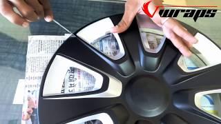 Wheel Cape vinyl wrapping  in black matt || alloy rim modification