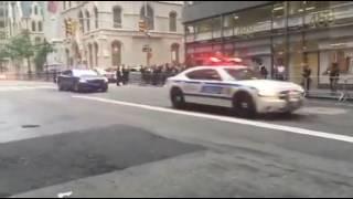 اتفرج..موكب الرئيس الأمريكي يستبب في حالة من الشلل المروري في نيويورك