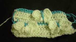 كيف تشتغل غرزة الفراشة كروشيه ثلاثي الابعاد How to crochet butterfly stitch3D