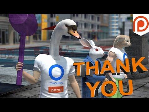 TomoNews Patreon patron thank you & shout-out video for February 2017 - TomoNews