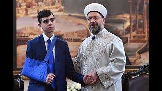 Diyanet İşleri Başkanı Erbaş, Filistin direnişinin sembolü Fevzi el Cuneydi'yi kabul etti.