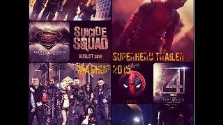 Superhero Trailer Mashup 2015   Deadpool, Suicide Squad, BvS, Fantastic 4  