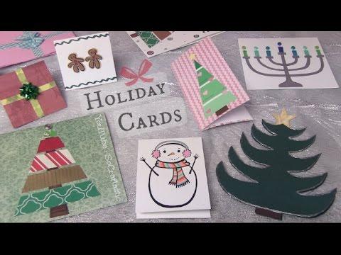 Easy Holiday Cards DIY // Christmas, Winter, & More - SoCraftastic