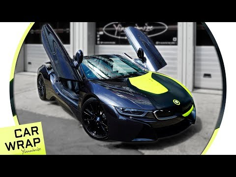 Xxx Mp4 BMW I8 Roadster Wrapped Fluorescent Yellow And Satin Black 3gp Sex