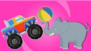 Monster truck In Circus Land | Adventure and Stunts Video for Kids
