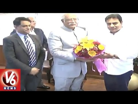 KTR Delhi Tour | Regional Connectivity And Pending Funds |  New Delhi | V6 News
