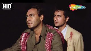 Ajay Devgn & Saif Ali Khan funny scene - Kachche Dhaage [1999] - Best Action Hindi Movie