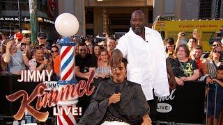 Shaq & Guillermo Give Summer Haircuts to Pedestrians