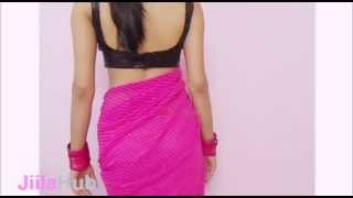 Step By Step Ramp Model Saree Show/How To Wear Modern Fashionable Sari/Blouse