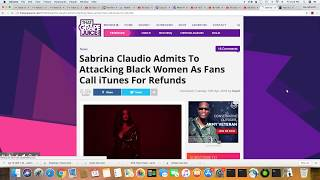Sabrina Claudio:  Black Women Fans Call iTunes For Refunds