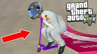 "GTA 5 STUNTS WITH THE WEIRDEST MODDED VEHICLES 😂 ""Must See"" (GTA 5 Mods)"