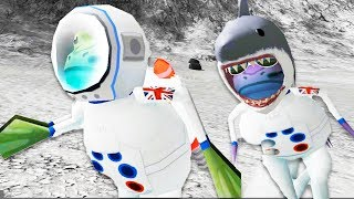 Attack of the Deadly Space Sharks! - Amazing Frog Gameplay