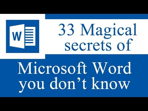33 Magical secrets tips and tricks of Microsoft Word you don't know