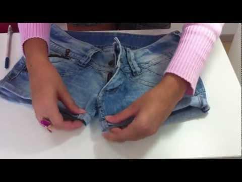 DIY Transforme sua calça jeans velha em um shorts jeans novo Sisters Lellis