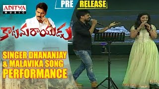 Singer Dhananjay & Malavika Song Performance  Katamarayudu Pre Release Event     Katamarayudu   