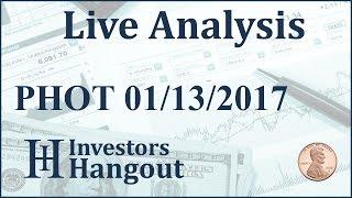 PHOT Stock Live Analysis 01-13-2017