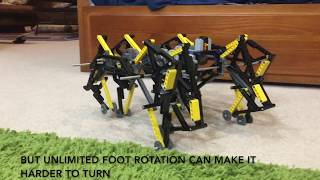 Smoothing Strandbeest's Speed with Feet that Rotate