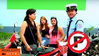 Traffic Corruption | Nepali Comedy Movie KANCHHI MATYANG TYANG | Jaya Kishan Basnet