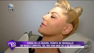 Teo Show (10.03.20170 - Adina de la Heaven, filmata in timpul unui masaj!