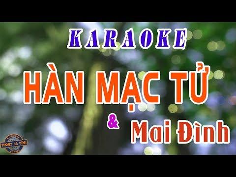 Karaoke trích đoạn | HÀN MẠC TỬ (với Mai Đình) | song ca