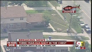 Chopper 9: Exclusive coverage of child shooting