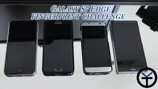 Galaxy S7 Edge  vs Note5 / Iphone 6S plus / Mate 8 Fingerprint sensor Test