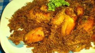 Resep dan Cara Memasak Ayam Goreng Serundeng | Ayam Goreng Kelapa