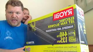 Bishops General Electronics & Tox Unboxing Reviews Ryobi Electric Leaf Blower UNBOXING