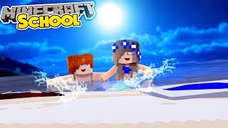 Minecraft School-LITTLE CARLY GOES SKINNY DIPPING!! (Minecraft Roleplay)