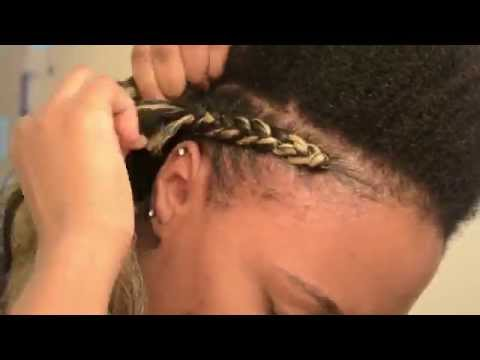 NATURAL HAIR Quick & Easy Cornrows Protective Hairstyle