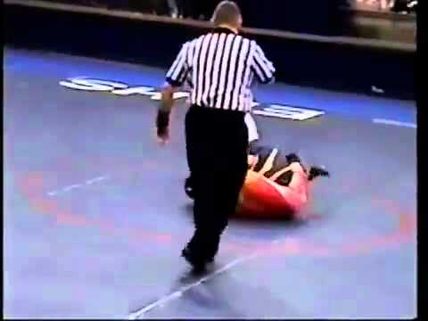 girl pins some guy with figure 4