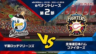 パワプロ・プロリーグ 2018 第2節 『千葉ロッテマリーンズ vs 北海道日本ハムファイターズ』