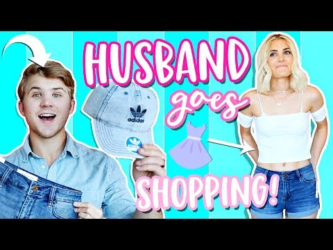 HUSBAND Buys Outfits for WIFE! Shopping Challenge 2017! | Aspyn Ovard
