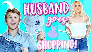 HUSBAND BUYS OUTFITS FOR WIFE! SHOPPING CHALLENGE! | Aspyn Ovard