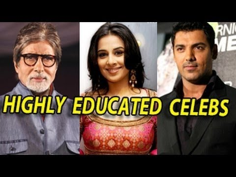 Famous Bollywood Celebrities Highly Educated