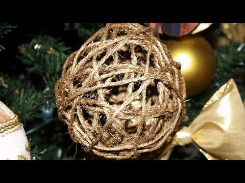 Adornos para el Árbol de Navidad 4 Esferas de Hilo Christmas Tree Decoration 4 Thread Spheres