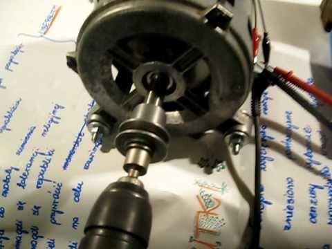 Test prądnicy z silnika od pralki