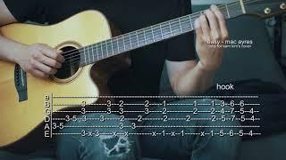 How to Play Easy - Mac Ayres - Guitar Tabs (Sam Kim Version)