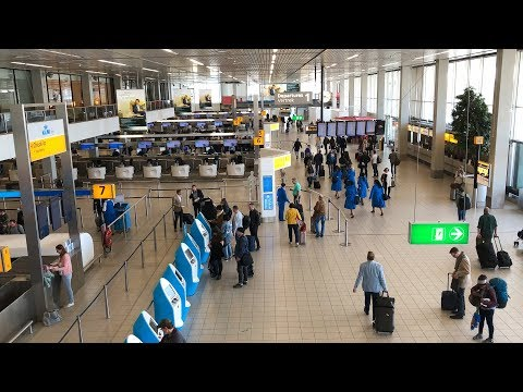 Schiphol Airport Amsterdam Walkthrough Tour April 2018 HD