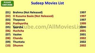 Sudeep Movies List