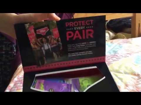 Unpacking! U by Kotex Free Samples