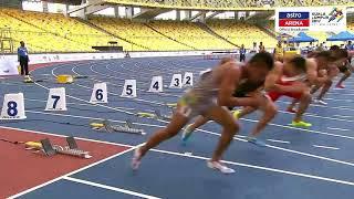 JONATHAN NYEPA | Olahraga | 100m | Separuh Akhir | KL 2017 | Astro Arena