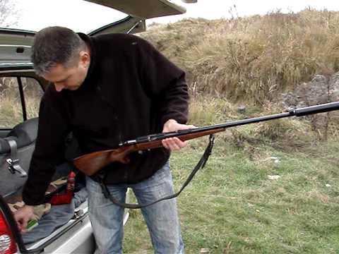 .22 Rifle CZ 513 Farmer with a suppressor