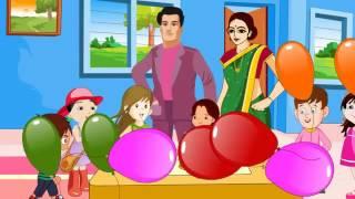 Baar Baar Din Yeh Aaye Happy Birthday Song  Cartoon Song  Hindi Children Songs